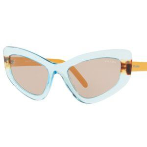 Prada Azure Havana Brown Catwalk Cateye Sunglasses